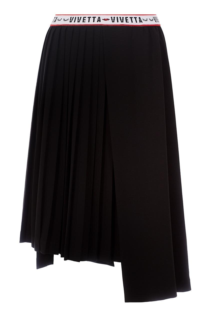 Черная юбка с плиссировкой