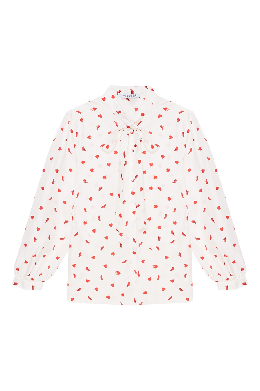 Vivetta Шелковая блузка с принтом