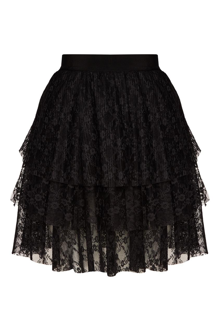 MSGM Кружевная юбка с воланами msgm топ с крупными воланами