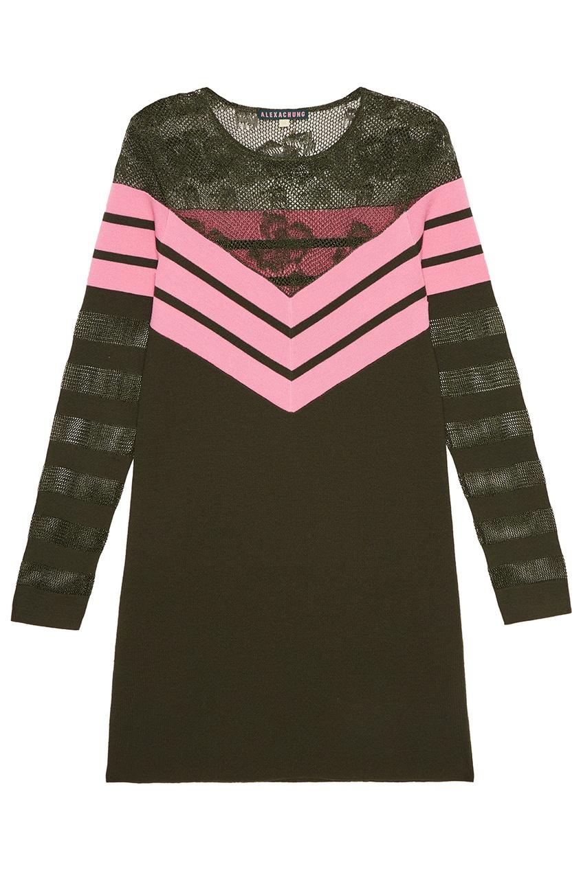где купить Alexa Chung Шерстяное платье с яркими полосками по лучшей цене