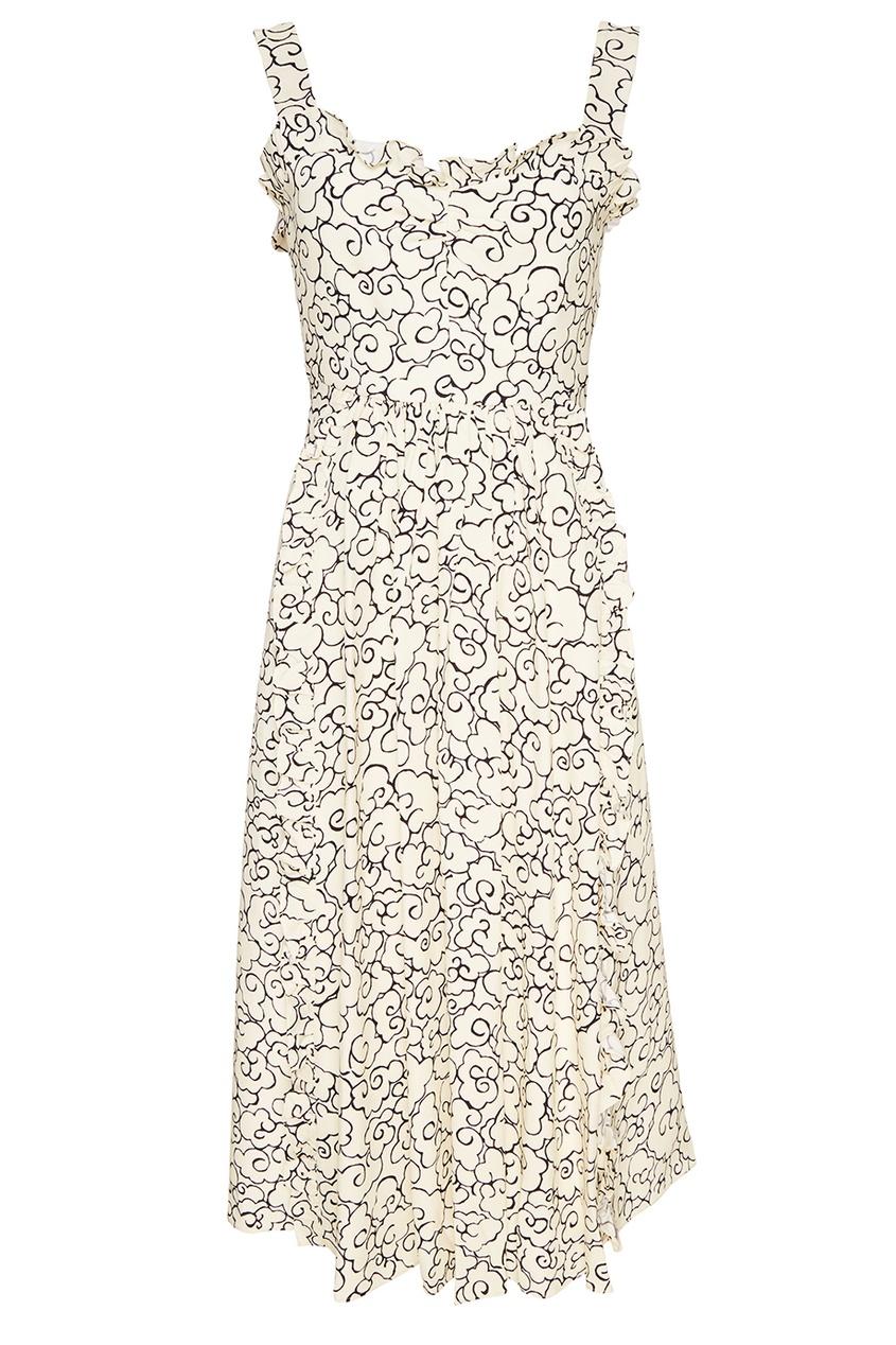 где купить Alexa Chung Платье с контурным принтом по лучшей цене