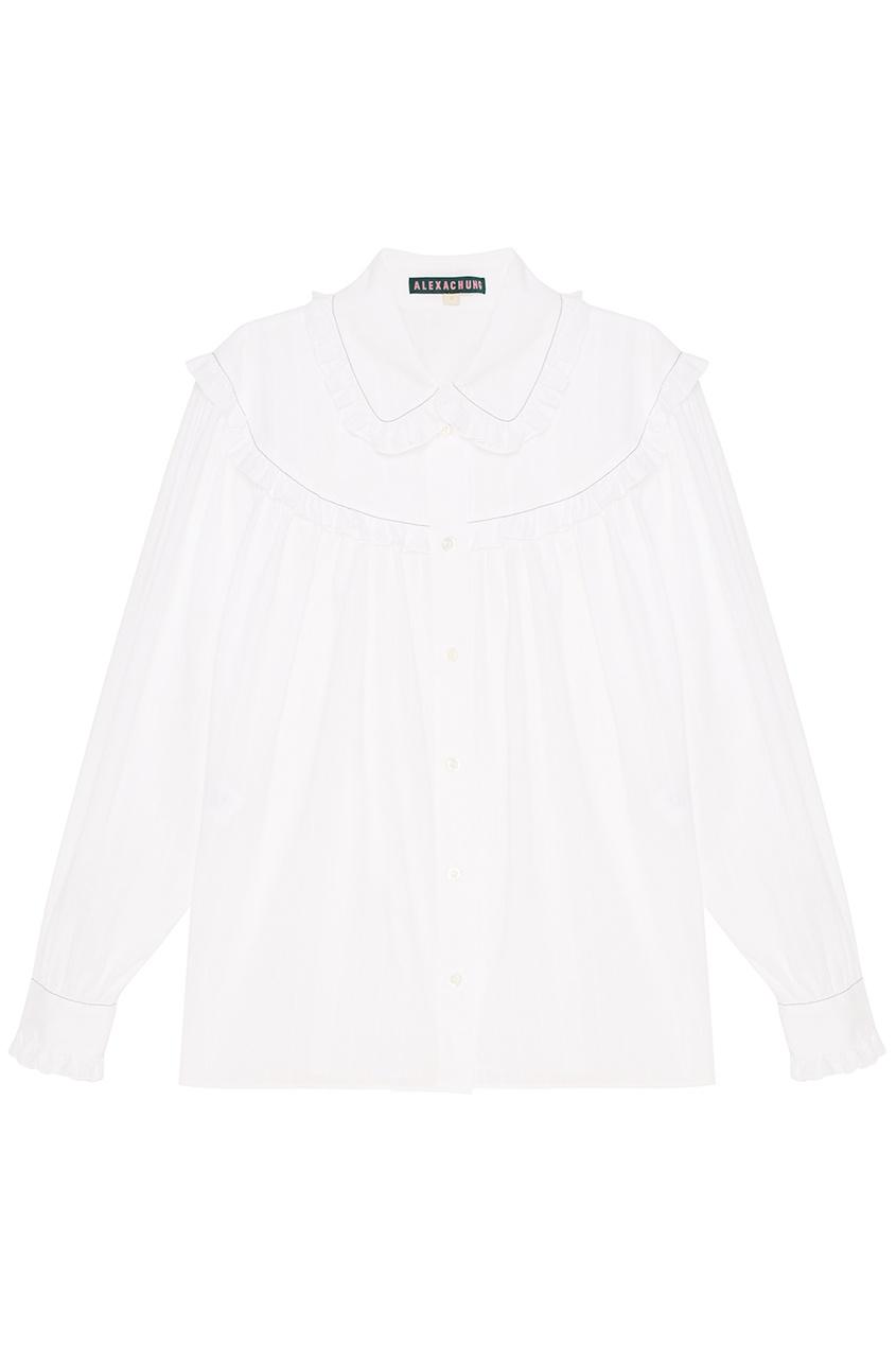 где купить Alexa Chung Хлопковая блузка с оборками по лучшей цене