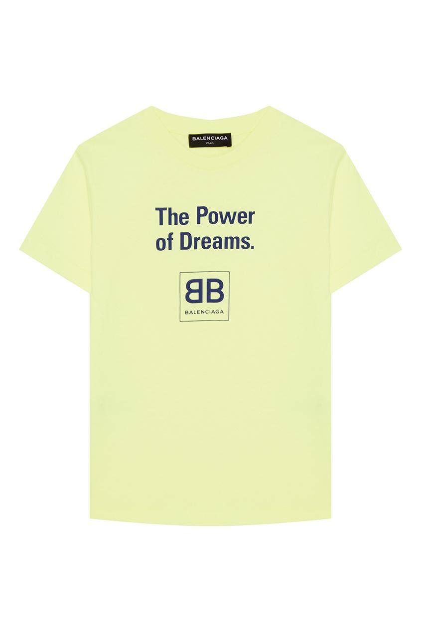 Желтая футболка с надписями