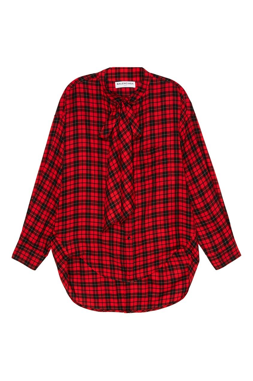 Balenciaga Удлиненная рубашка в клетку рубашка в клетку insight back to zero midnight oil