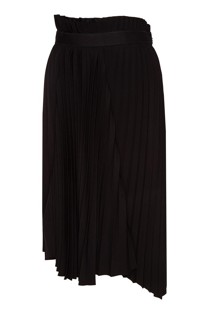 Balenciaga Асимметричная плиссированная юбка асимметричная юбка с запахом thomas wylde асимметричная юбка с запахом