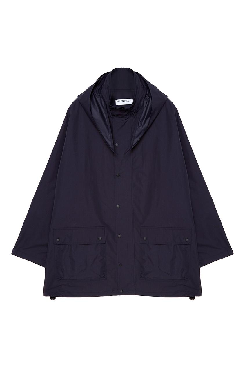 Balenciaga Черный плащ oversize