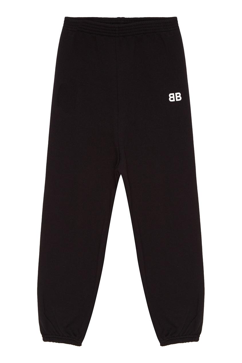 где купить Balenciaga Kids Черные брюки в спортивном стиле по лучшей цене