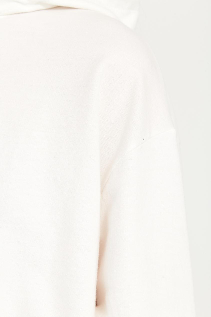 Белое худи из хлопка