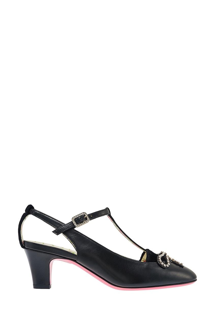 Gucci Кожаные туфли с кристаллами