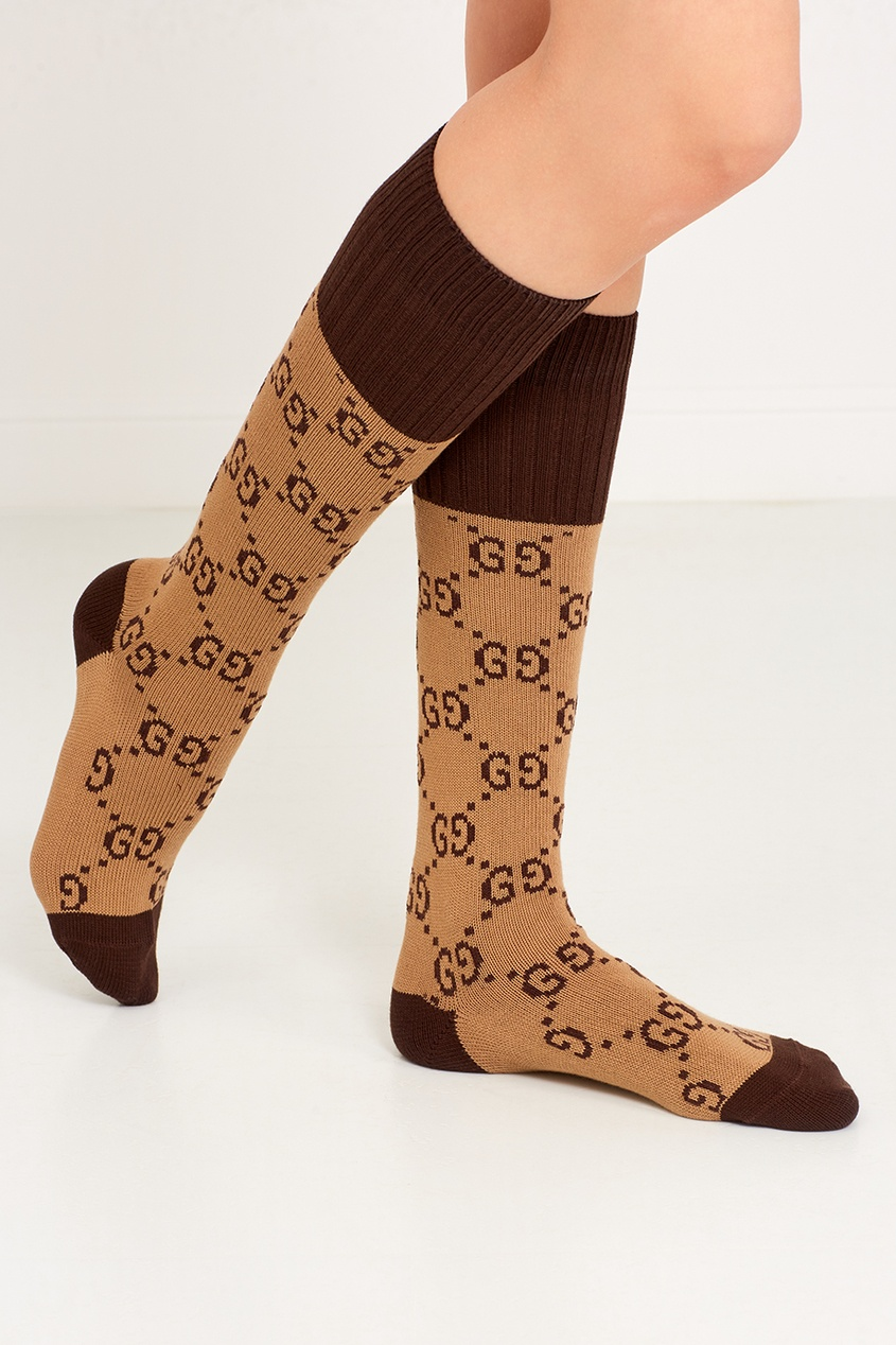 Хлопковые носки с монограммами