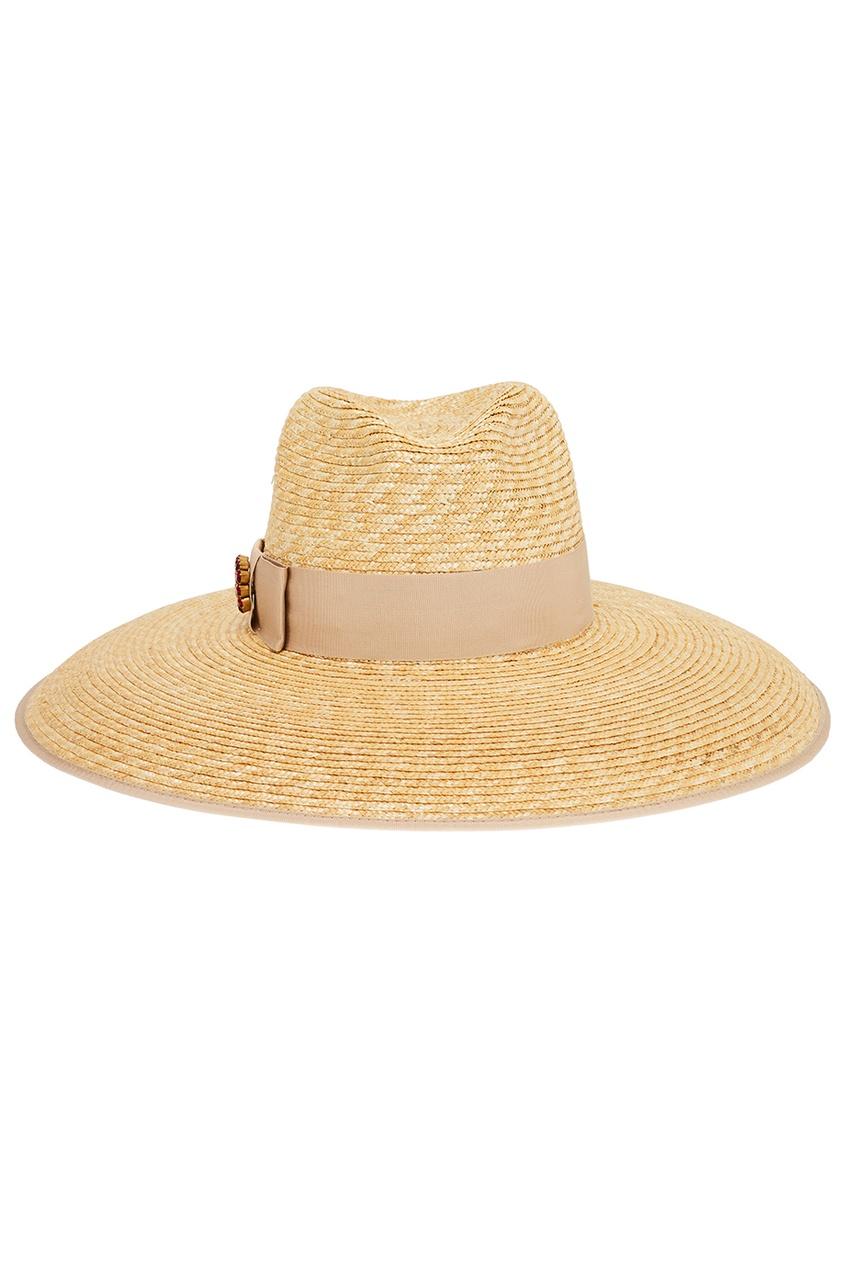 Gucci Соломенная шляпа с бантом