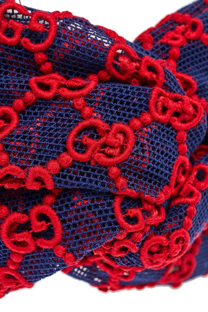 Gucci Повязка из сетки с монограммами красота розы корона повязка на голову свадебные двухрядные цветочные гирлянды hairband ll9