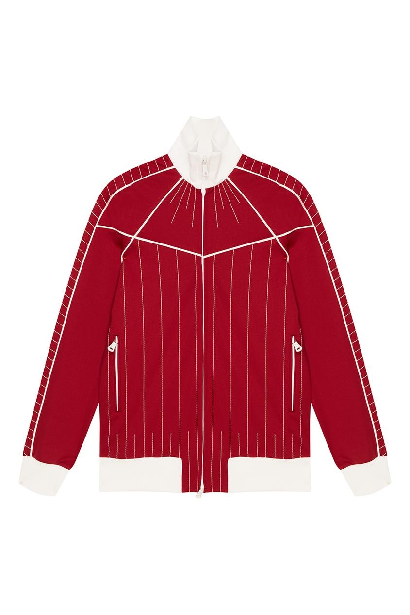 Красная куртка-бомбер с полосками VALENTINO
