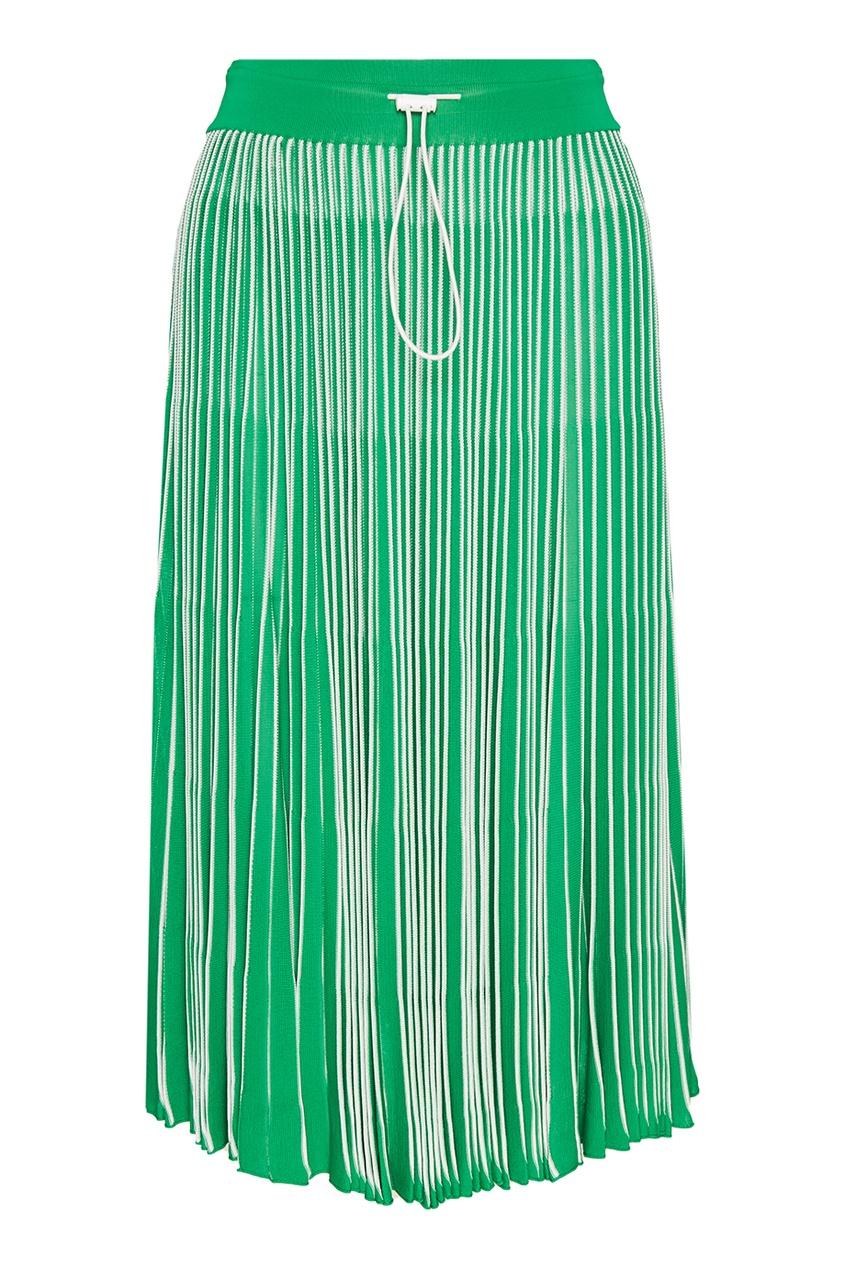 Valentino Зеленая плиссированная юбка