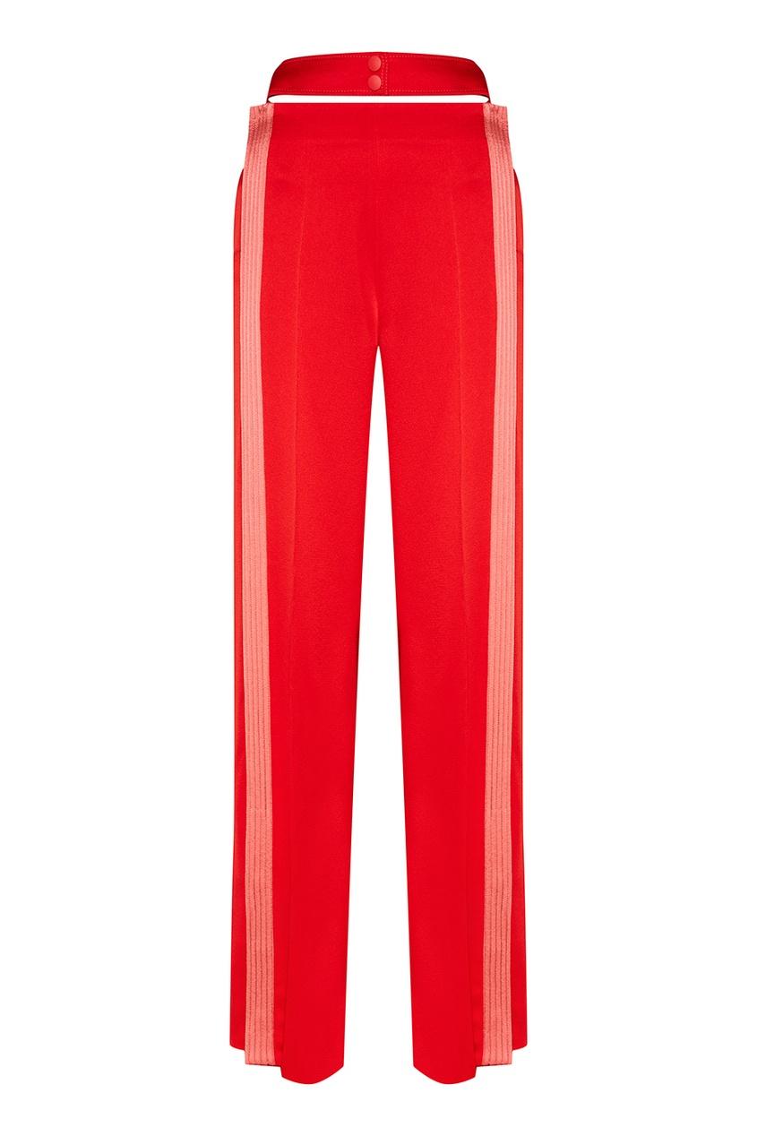Valentino Красные брюки с полосками valentino накидка