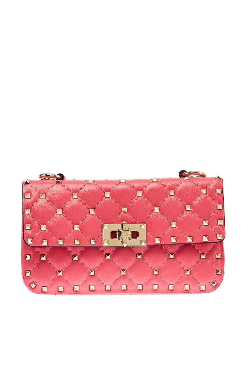 Купить со скидкой Розовая сумка из кожи Rockstud Spike Valentino Garavani