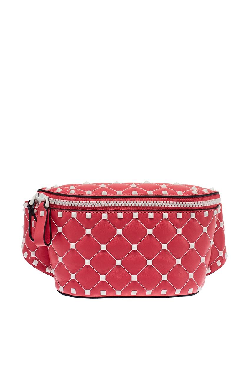 Valentino Поясная сумка из розовой кожи Free Rockstud Spike сумка giovanni valentino mtp00131699 valentino c rockee
