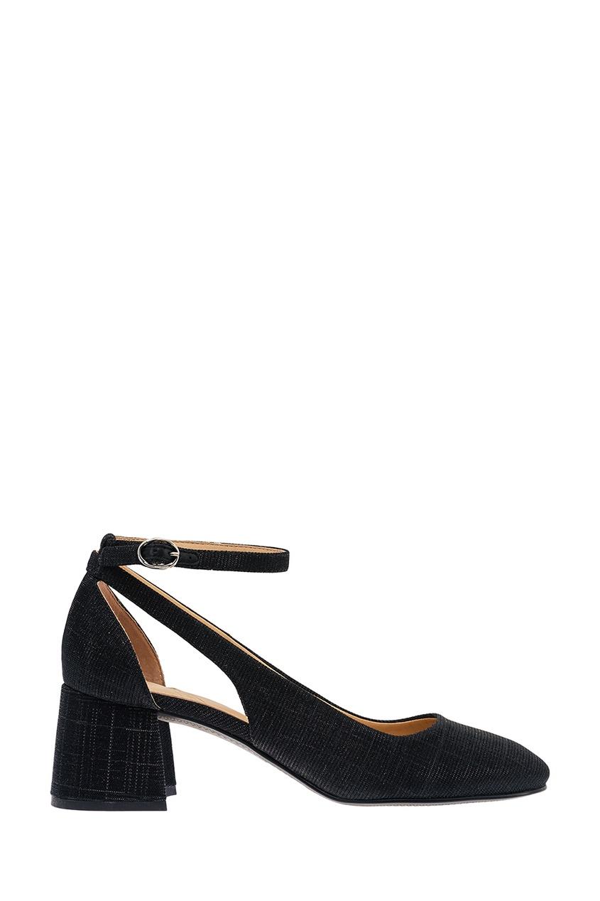 What For Черные текстильные туфли с люрексом цена