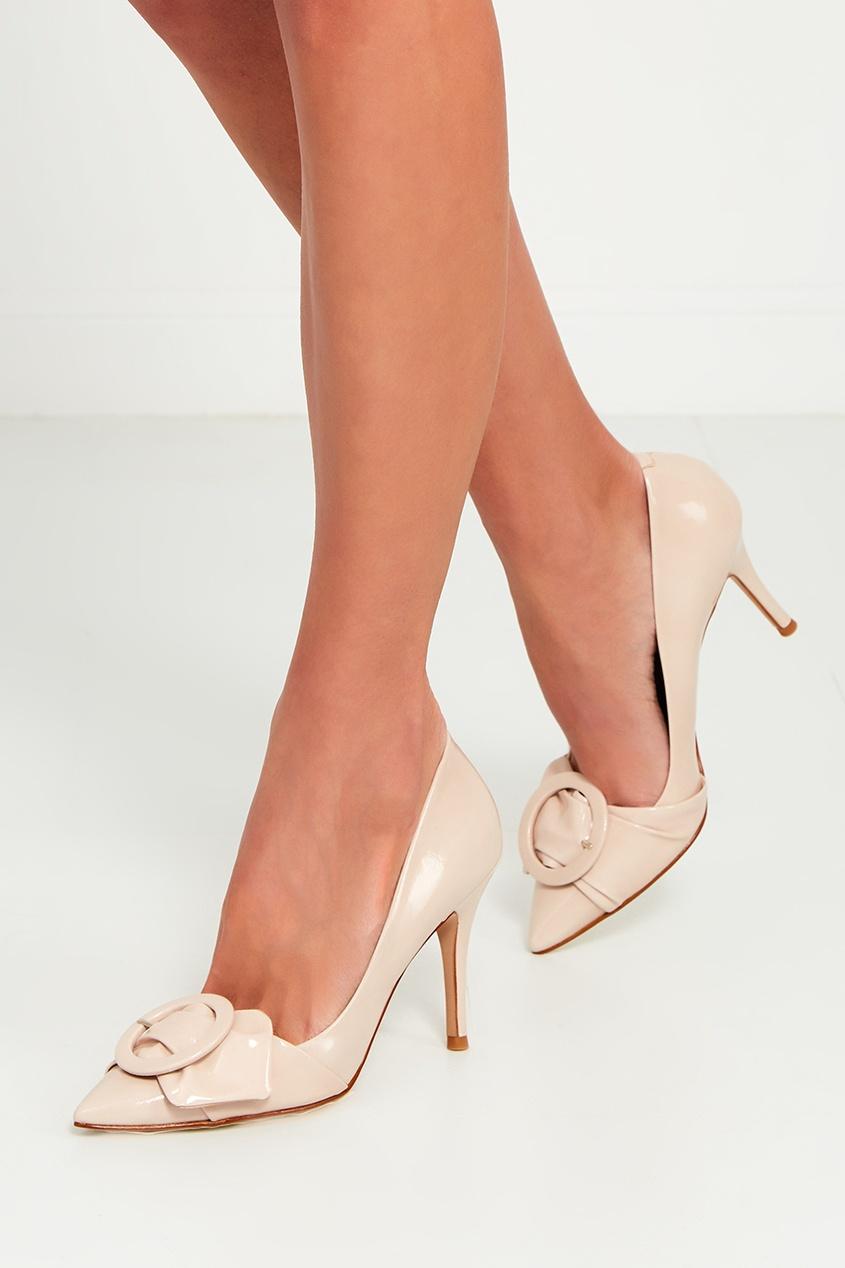 What For Бежевые лакированные туфли с пряжкой ist пояс из кордуры с пластиковой пряжкой