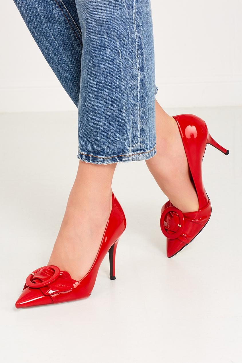 What For Красные лакированные туфли с пряжкой ist пояс из кордуры с пластиковой пряжкой