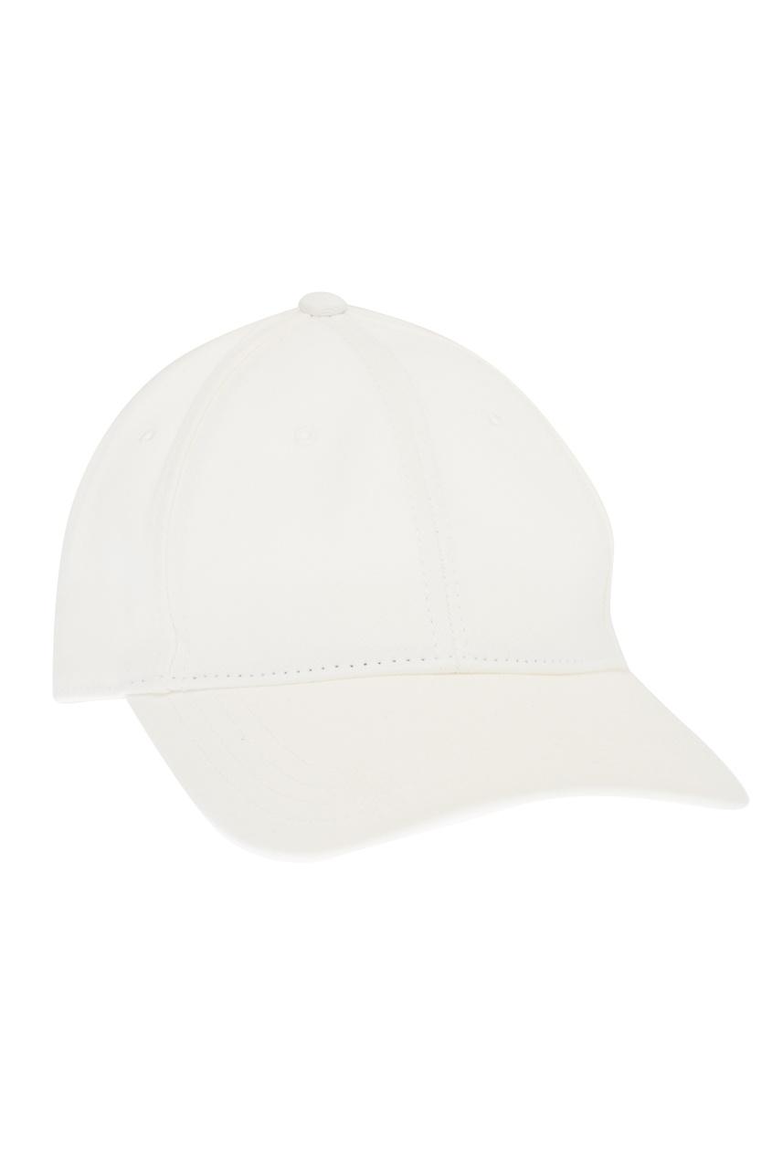 Moncler Белая кепка из хлопка