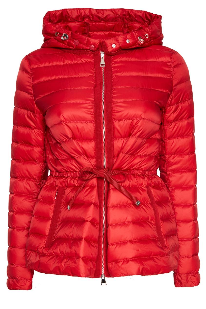 Moncler Красная стеганая куртка