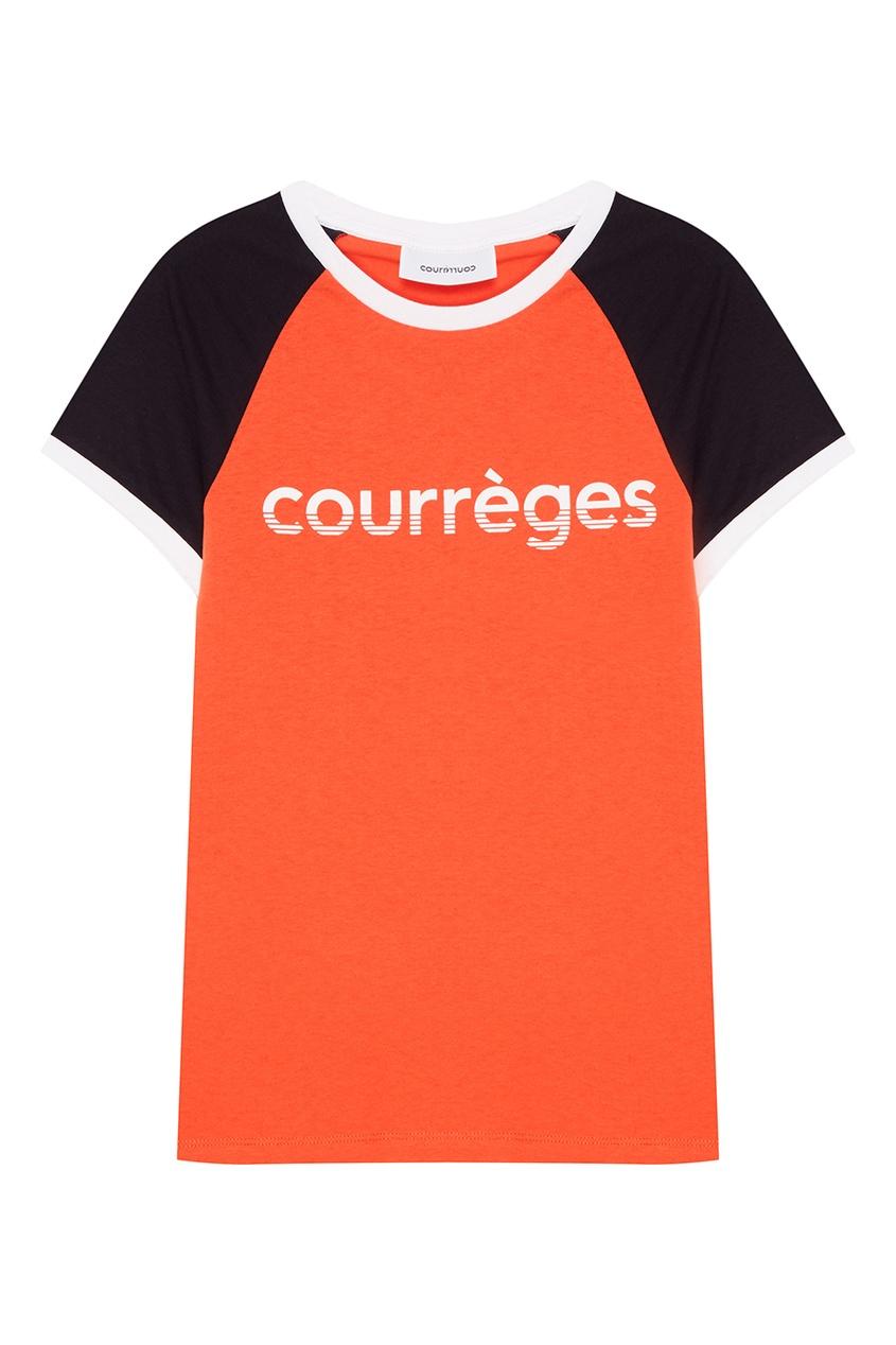 Courreges Красная футболка с логотипом courreges головной убор