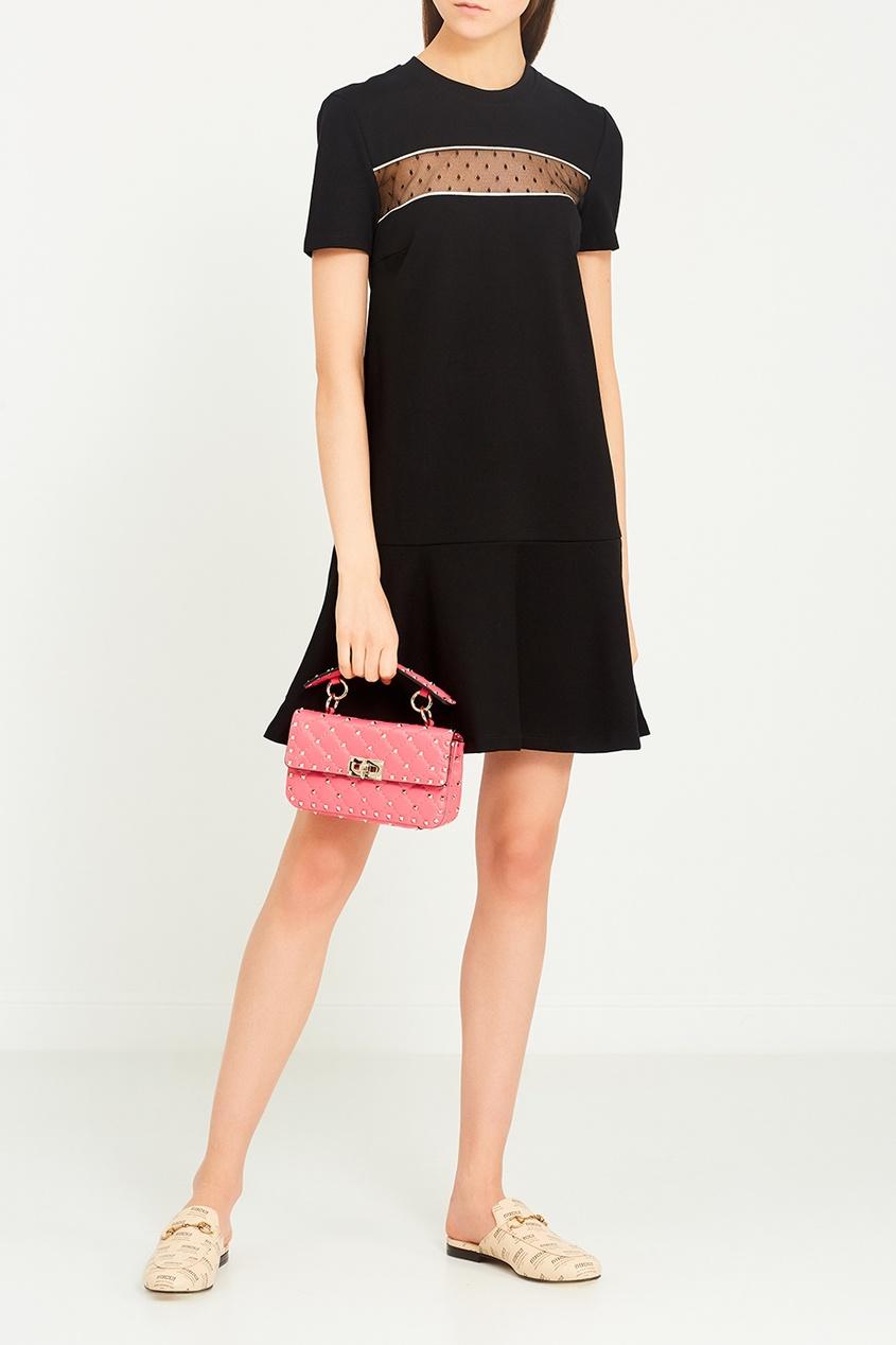 Черное платье-трапеция