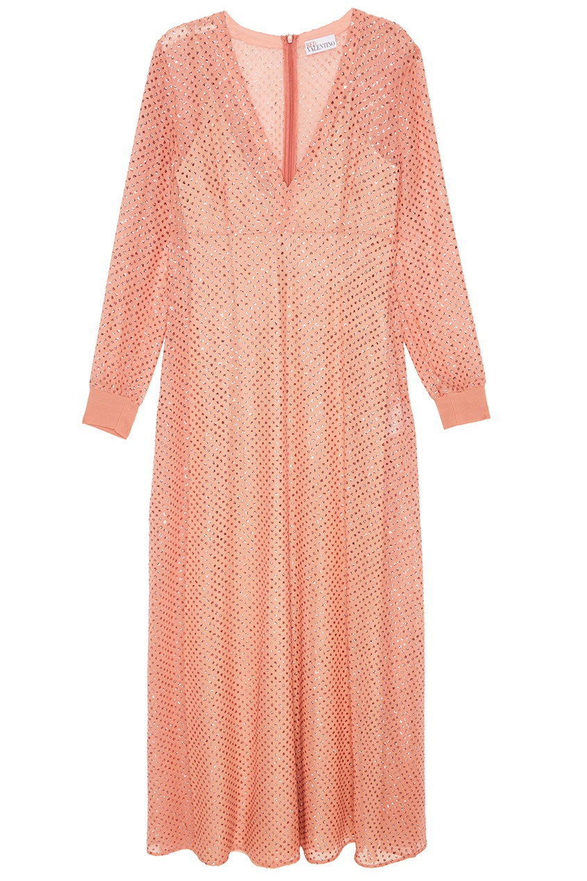 Red Valentino Розовое платье из шелка с блестками