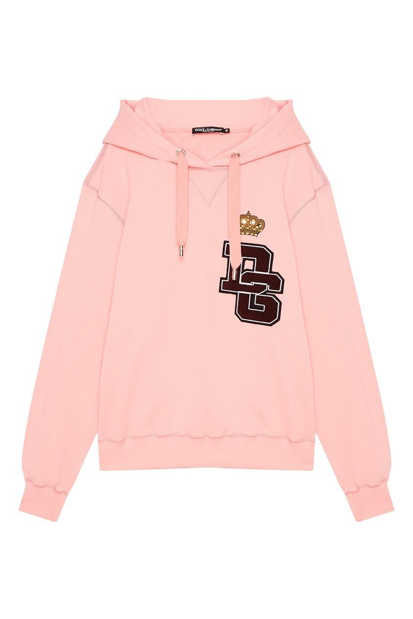 Dolce&Gabbana Хлопковое худи с логотипом