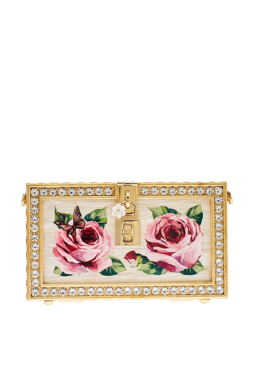 Клатч с розами и кристаллами