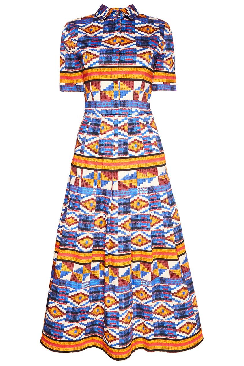 Stella Jean Платье-рубашка с этническим орнаментом рубашка поло stella plays printio слава красной армии