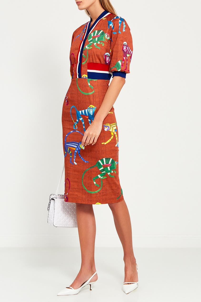 Stella Jean Хлопковое платье-рубашка платье рубашка fox yulia sway платье рубашка fox
