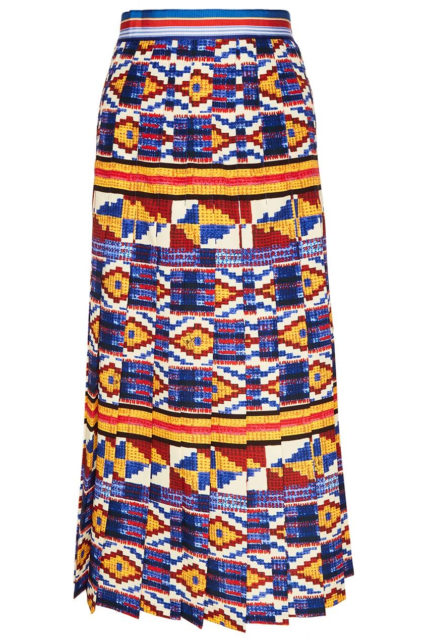 Stella Jean Плиссированная юбка с ярким орнаментом stella mccartney плиссированная юбка melody