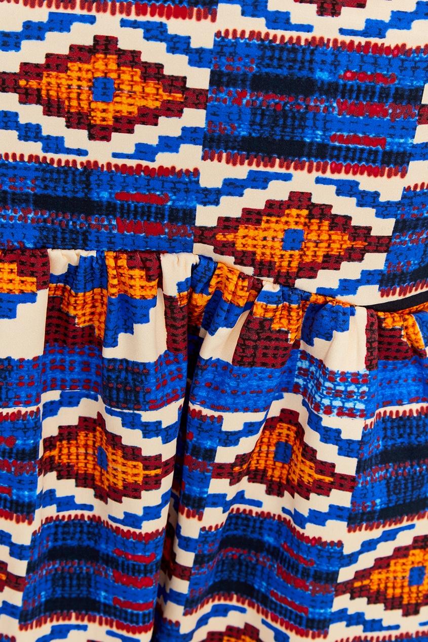 Stella Jean Хлопковая юбка с этническими орнаментами