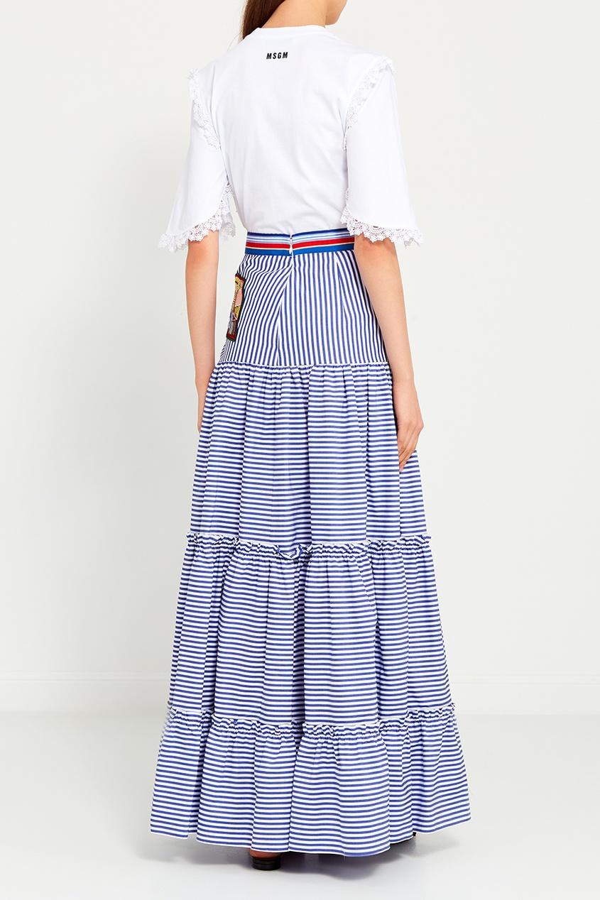 Stella Jean Хлопковая юбка с воланами