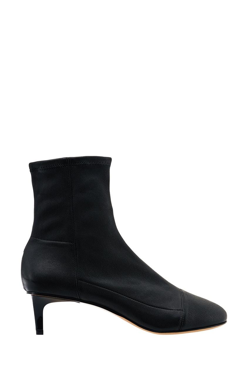 Isabel Marant Черные кожаные ботильоны