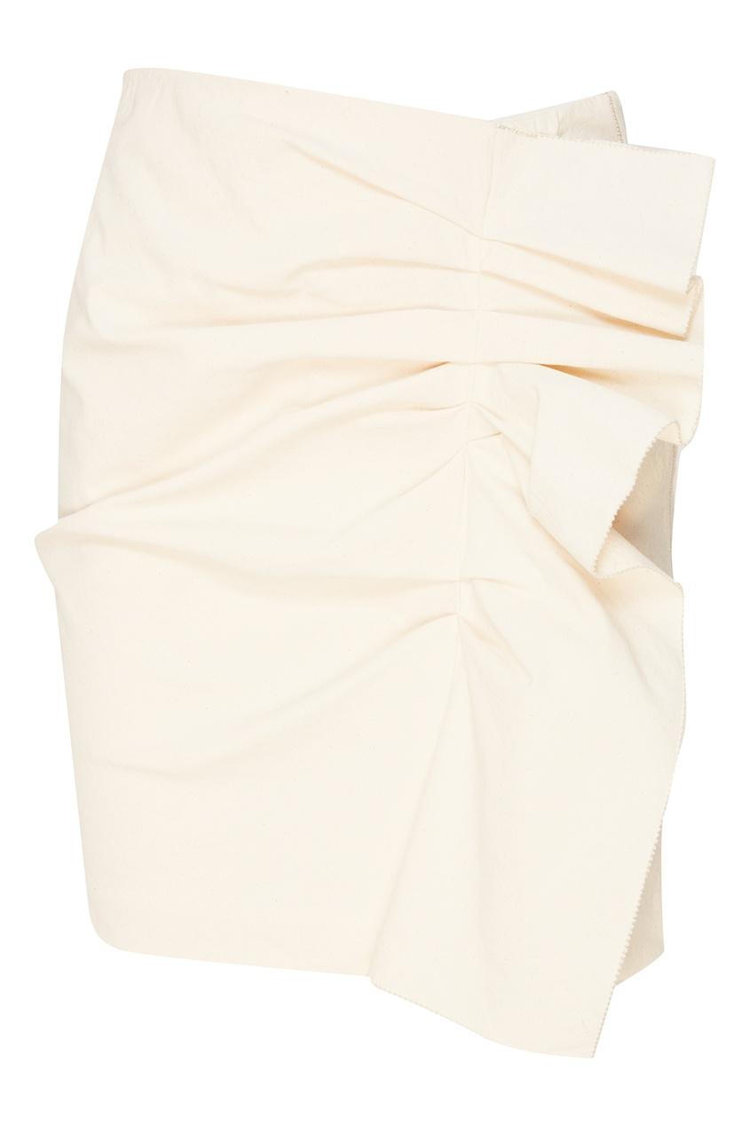 Мини-юбка с драпировкой