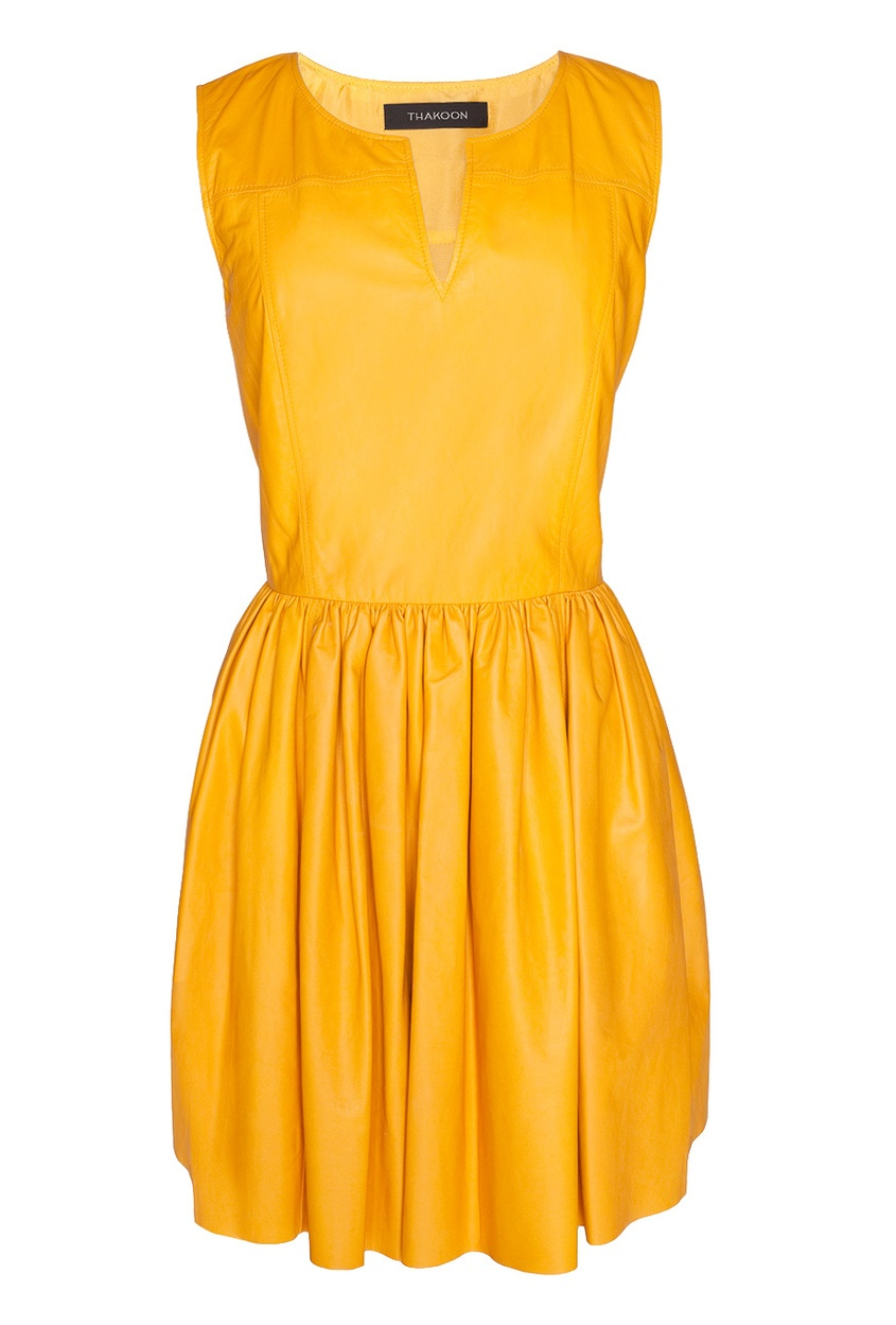 Кожаное платье Thakoon