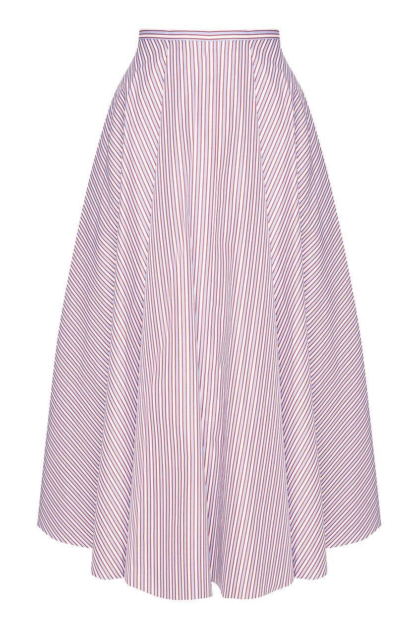 Хлопковая юбка в полоску