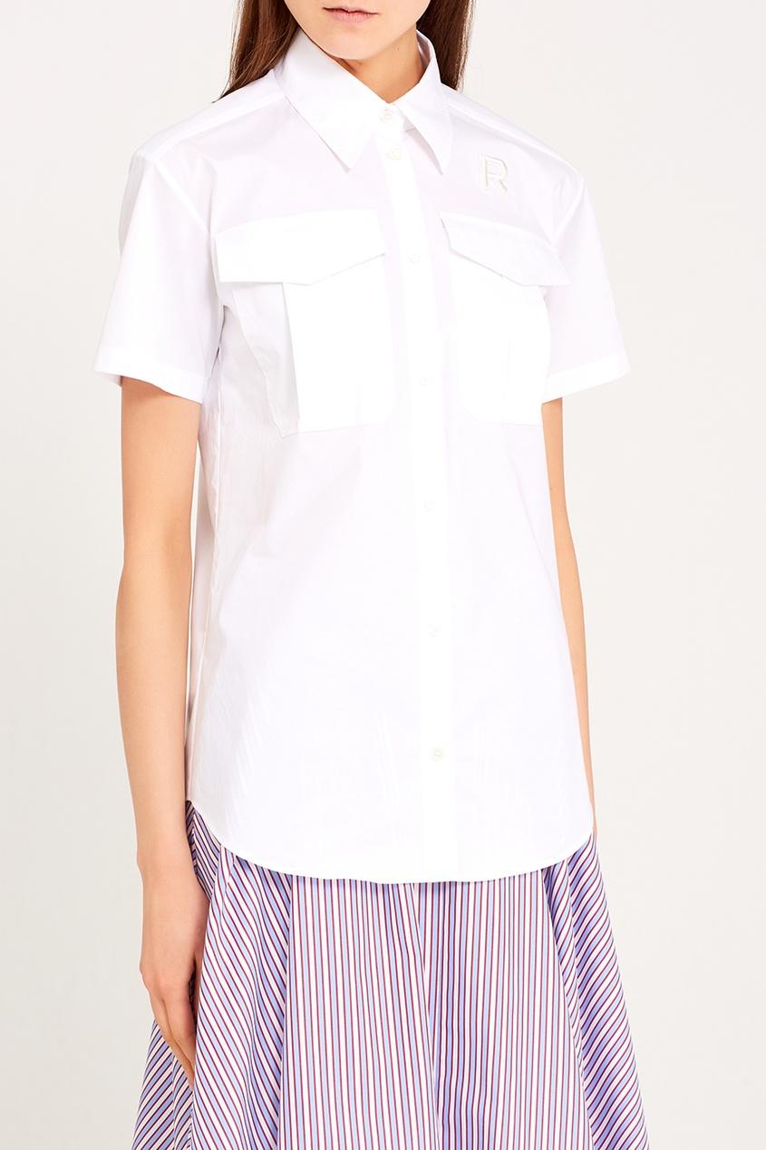 женская рубашка rochas, белая