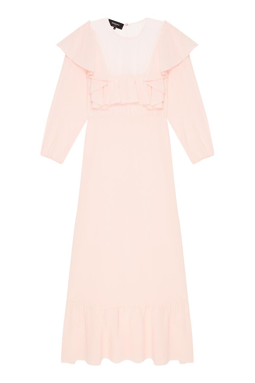 женское платье rochas, розовое