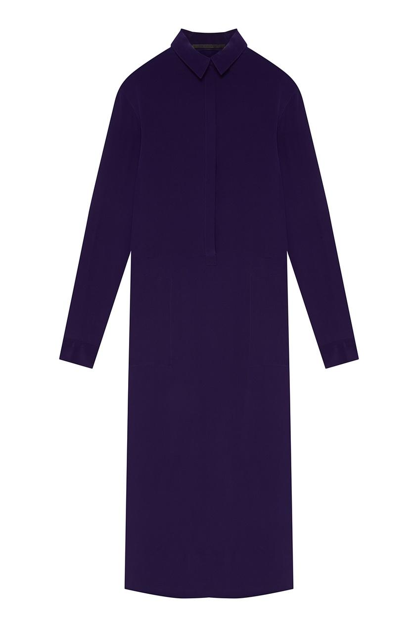 Haider Ackermann Шелковое платье-рубашка