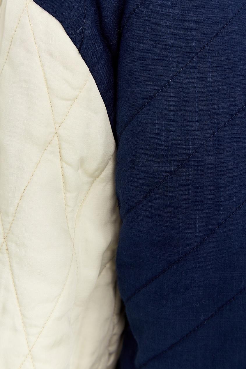 Isabel Marant Etoile Двусторонняя стеганая куртка из хлопка isabel marant etoile твидовое пальто oversize