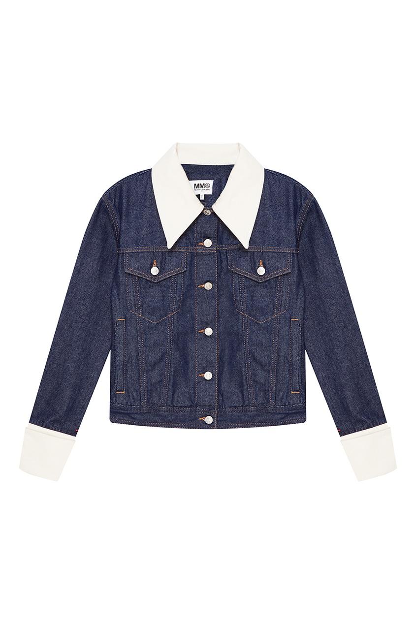 MM6 Maison Margiela Джинсовая куртка с контрастной отделкой red valentino джинсовая куртка с карманами