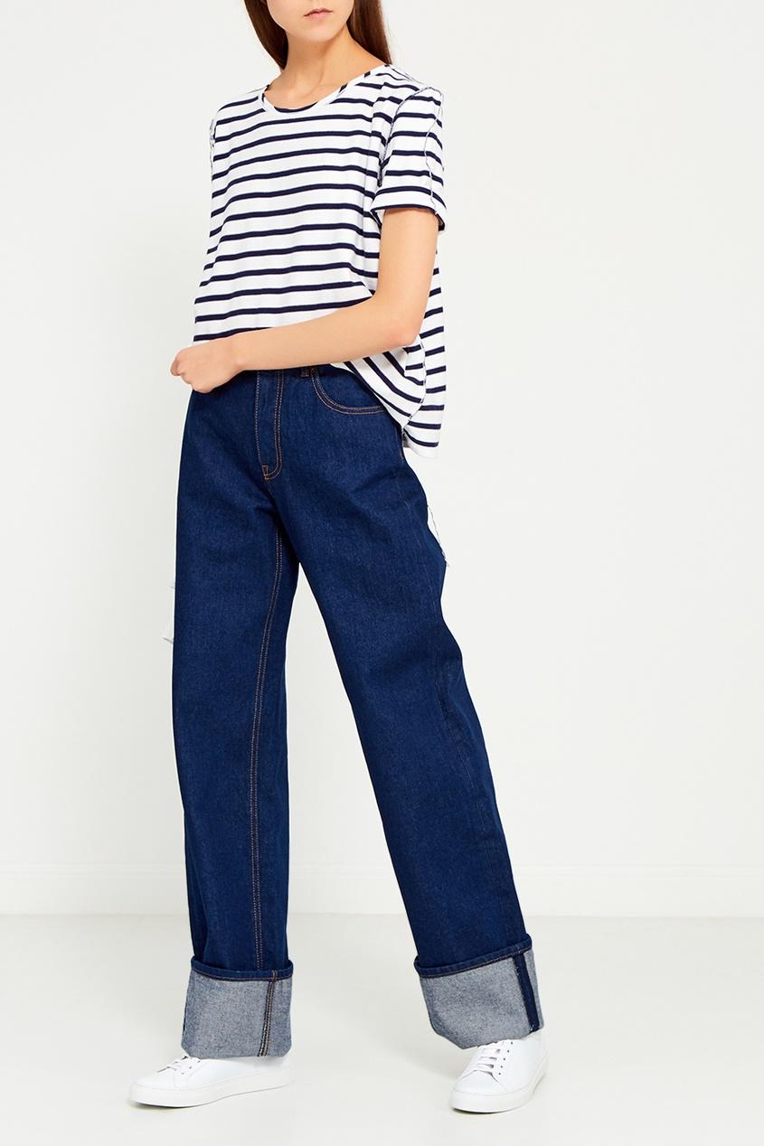 MM6 Maison Margiela Прямые джинсы с отворотами