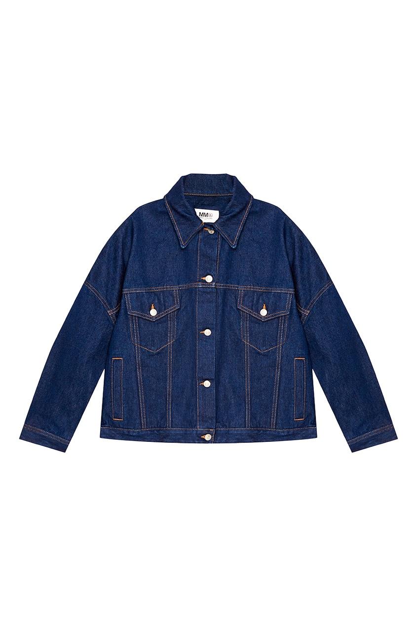 MM6 Maison Margiela Синяя джинсовая куртка oversize rnt23 темно синяя вельветовая куртка