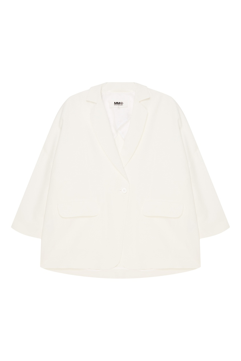цена на MM6 Maison Margiela Белый однотонный жакет