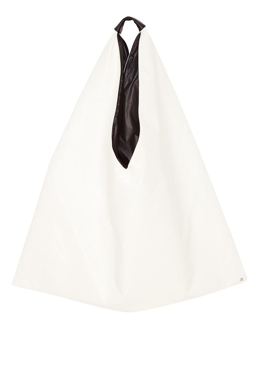 Белая сумка-хобо Japanese