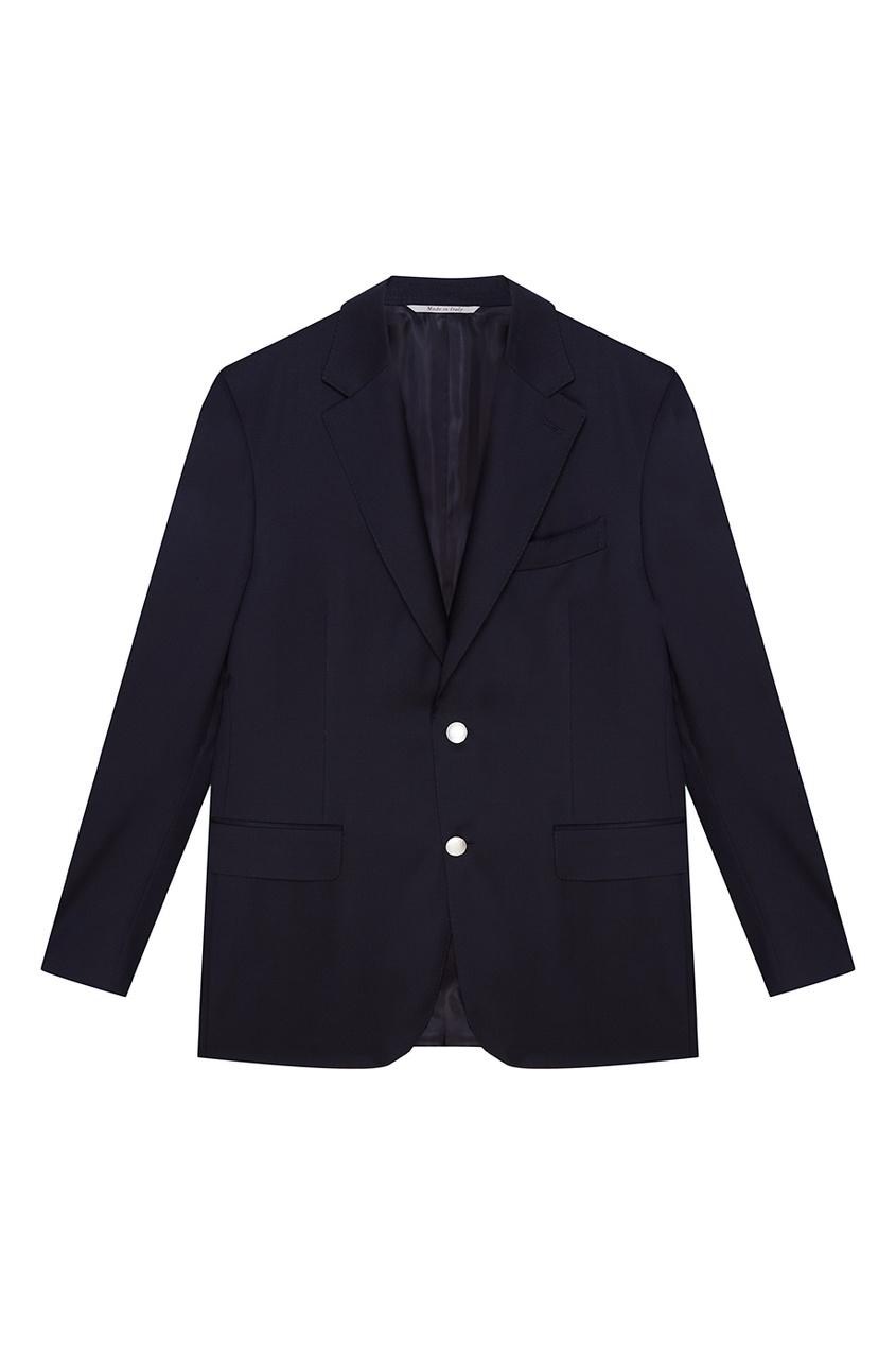 Черный шерстяной пиджак
